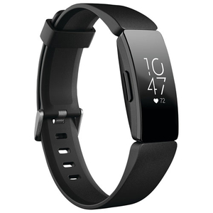 Fitbit Inspire HR Heart Rate & Fitness Tracker, One Size (S & L bands included), 1 Count