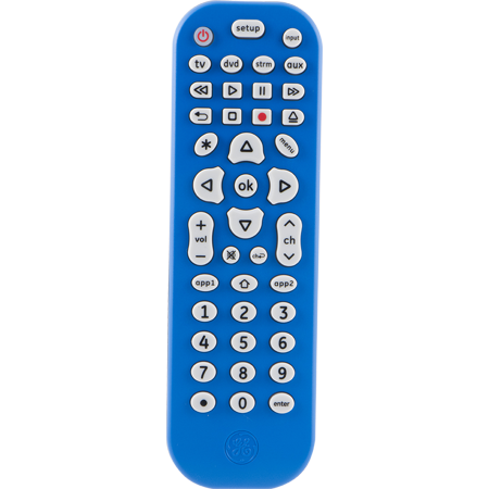 GE 4-Device Universal Remote Control, Blue