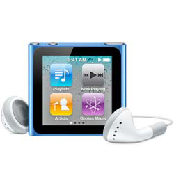 Apple iPod Nano 8GB (6th Generation) Blue - Older Model