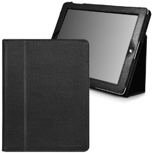 CaseCrown Bold Standby Case for iPad 4th Generation with Retina Display, iPad 3 & iPad 2 (Built-in magnet for sleep / wake feature) (Black)