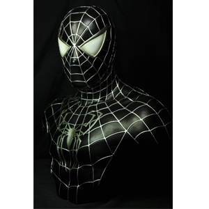 "SPIDER-MAN BLACK 1:1 Life-Scale Bust STATUE (21"")"