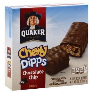 QUAKER CHEWY DIPPS CHOC CHIP 6 BARS 186G