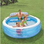 Intex Swim Center Inflatable Family Lounge Pool, 88in X 85in X 30in, for Ages 3+