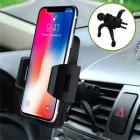 Bvenko Car Mount, Phone Holder, 360° Swivel Air Vent with Quick Release Button Silicone pad for iPhone X,8/7Plus,Galaxy S8 and More