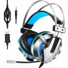 EKSA Gaming Headset, Noise Cancelling Over Ear Headphones with Mic, LED Light, Bass Surround, Soft Memory Earmuffs for PS4, Xbox One, PC, Laptop Mac, Nintendo Switch
