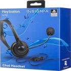 Insignia™ - Wired Mono On-the-Ear Chat Headset for PlayStation 4 - Black/Blue