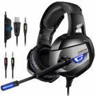 ONIKUMA Gaming Headset, 7.1 Surround Sound with Noise Canceling Mic LED Light, Over-Ear Headphones for PS4, Xbox One, PC, Mac, Laptop, Nintendo Switch